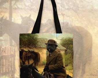 Cairn Terrier Art Tote Bag  by Nobility Dogs Arts