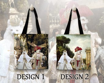 American Eskimo Tote Bag   by Nobility Dogs Arts