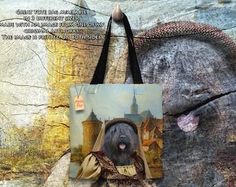 Bouvier des Flandres Art Tote Bag  by Nobility Dogs Arts
