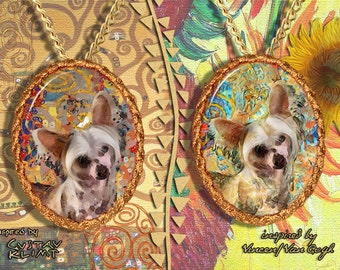 Chinese Crested Dog Jewelry Pendant