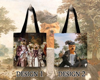 Norfolk Terrier Tote Bag  Portrait by Nobility Dogs Arts