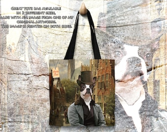 Tote Bag  Boston Terrier by Nobility Dogs Arts