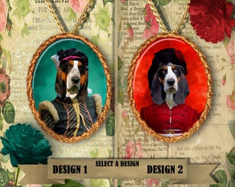 Basset Hound Jewelry Handmade by Nobility Dogs