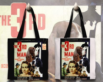 English Springer Spaniel Art Tote Bag The Third Man Movie Poster     by Nobility Dogs