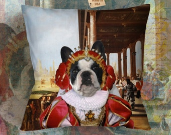 Christmas Gifts French Bulldog Art Pillow     Dog Lover  by Nobility Dogs Arts