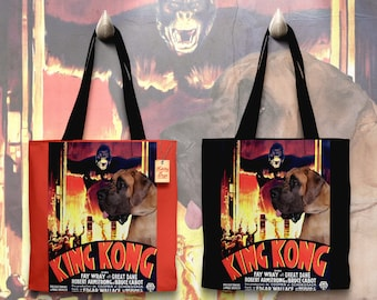 Great Dane Art Tote Bag    KING KONG Movie Poster   by Nobility Dogs