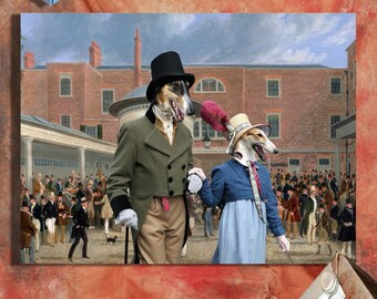 Borzoi Art Print Russian Wolfhound by Nobility Dogs
