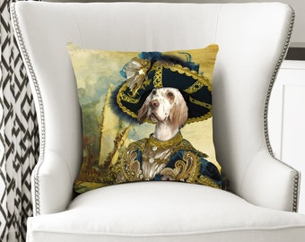 Christmas Gifts English Setter Art Pillow    Dog Lover  by Nobility Dogs Arts