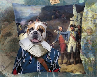 Christmas Gifts English Bulldog Art Pillow    Dog Lover  by Nobility Dogs Arts