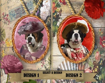 Saint Bernard Jewelry by Nobility Dogs Handmade Gifts by Nobility Dogs