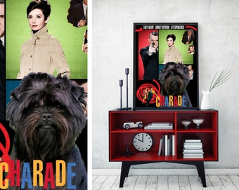Affenpinscher Art Print Charade Vintage Movie Poster