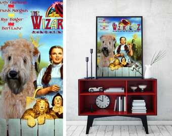 Soft Coated Wheaten Terrier Art Vintage Movie Style Poster Canvas Print  - The Wizard of Oz