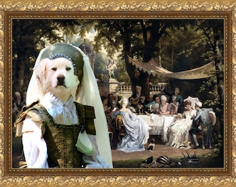 Great Pyrenees Art Canvas Print Dog Lover Christmas Gift by Nobility Dogs