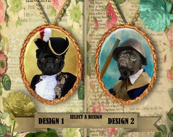 Pug Jewelry Pendant by Nobility Dogs