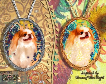 Japanese Chin Jewelry Pendant Nobility Dogs