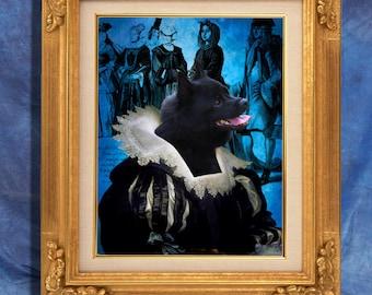Schipperke Art Print 11 x 14 inch original illustration artwork giclee archival premium poster print By Nobility Dogs