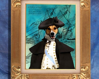 Jack Russell Terrier Art Print 11 x 14 inch original illustration artwork giclee archival premium poster print By Nobility Dogs