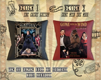 American Cocker Spaniel Pillow Movie Poster Gone with the Wind The Great Gatsby by Nobility Dogs