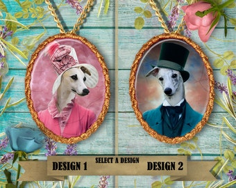 Whippet Jewelry, Custom Dog Pendant, Dog Lover Gifts by Nobility Dogs