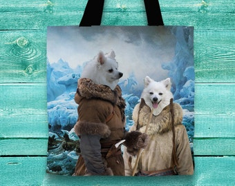 American Eskimo Art Tote Bag  by Nobility Dogs Arts