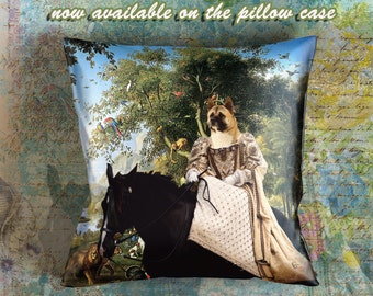 Christmas Gifts American Akita Art Pillow    Dog Lover  by Nobility Dogs Arts