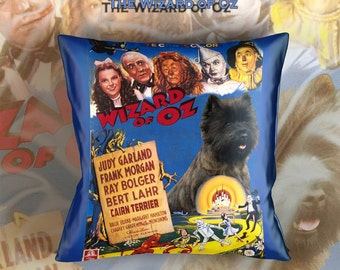 Cairn Terrier Art Pillow    The Wizard of Oz Movie Poster   by Nobility Dogs