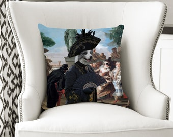 Christmas Gifts Border Collie Art Pillow    Dog Lover  by Nobility Dogs Arts