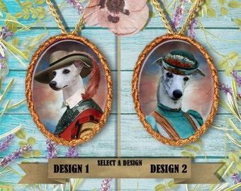 Whippet Jewelry Handmade Pendant Whippet Art Whippet Dog Charm Custom Dog Porcelain Jewelry Whippet Gift Personalized Dog Nobility Dog