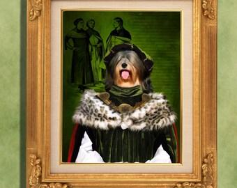 Tibetan Terrier Art Print 11 x 14 inch original illustration artwork giclee archival premium poster print By Nobility Dogs