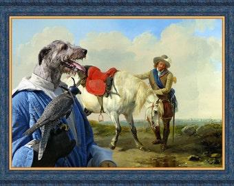Irish Wolfhound Art Irish Wolfhound Dog Print Wolfhound Portrait Wolfhound Gifts Levriero Irlandese Wolfshund Lévrier Irlandais