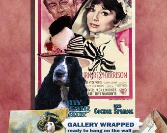 English Cocker Spaniel Art My Fair Lady Movie Poster