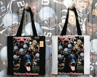 Beauceron Art Tote Bag   WildCats Movie Poster by Nobility Dogs