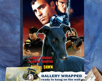 Spanish Greyhound Galgo Art From Dusk Till Dawn Movie Poster