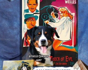 Appenzeller Mountain Dog Art Touch of Evil Movie Poster