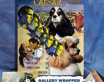 American Cocker Spaniel Art Julius Caesar Movie Poster