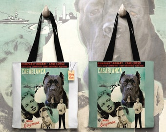 Cane Corso Art Tote Bag   Casablanca Movie Poster by Nobility Dogs