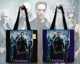 Flat Coated Retriever Art Tote Bag   Matrix Movie Poster    by Nobility Dogs