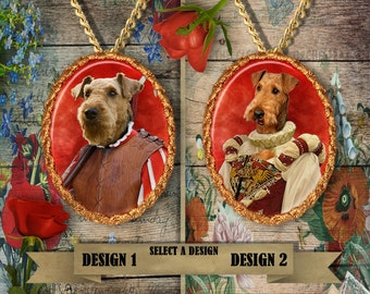 Airedale Terrier Jewelry Handmade Gifts by Nobility Dogs
