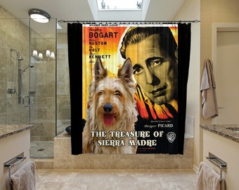 Berger Picard Art Shower Curtain, Dog Shower Curtains, Bathroom Decor - The Treasure of the Sierra Madre Movie Poster