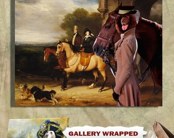Irish Water Spaniel Art CANVAS Print Dog Lover  Gifts by Nobility Dogs