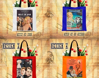 Saluki Art Tote Bag Saluki Dog Gifts inspired by Movie Poster  by Nobility Dogs