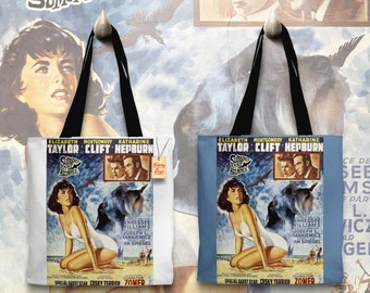 Cesky Terrier Art Tote Bag   Suddenly Last Summer Movie Poster by Nobility Dogs