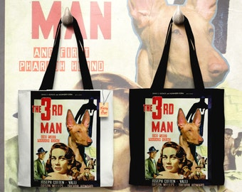 Pharaoh Hound Art Tote Bag   The Third Man Movie Poster by Nobility Dogs