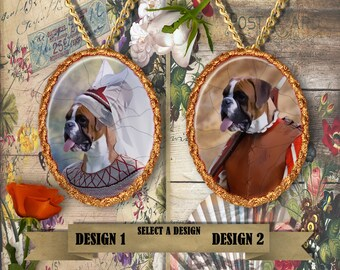 Boxer Dog Jewelry Pendant Handmade Gifts by Nobility Dogs