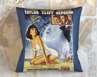 Fox Terrier Smooth Art Pillow    Suddenly Last Summer Movie Poster
