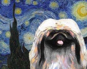 Van Gogh Dog Art