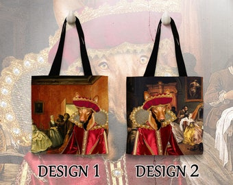 Pharaoh Hound Tote Bag  Portrait by Nobility Dogs Arts