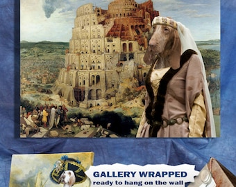 """Bracco Italiano Art """"The Tower of Babel"""" Prin Dog Lover  Gifts by Nobility Dogs"""
