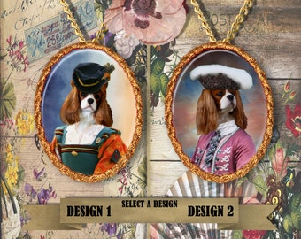 Cavalier King Charles Spaniel Jewelry Pendant Handmade Gifts by Nobility Dogs