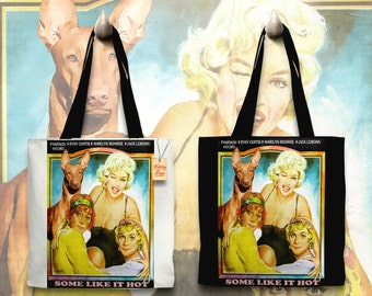 Pharaoh Hound Art Tote Bag   Some Like It Hot Movie Poster by Nobility Dogs